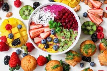 Bowl mit viel Kalorien