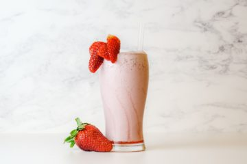 Erdbeersmoothie zum Zunehmen